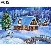 ruixuered-5dフル樹脂ダイヤモンド絵画DIY冬景色クロスステッチクリスマスの装飾 - V012 5Dダイヤモンドアート