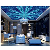 Mrlwy 壁画は天井に高品質の天井の壁紙パターン天井キッチン壁紙をカスタマイズします-150X120CM