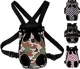 [ケンコバハンズ] 2WAY ペットキャリーバッグ 小型犬用 抱っこバッグ キャリーバッグ 中型犬 用 抱っこ & おんぶ リュック バッグ (ドット黒L)