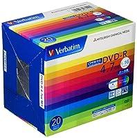 Verbatim バーベイタム 1回記録用 DVD-R CPRM 4.7GB 20枚 ホワイトプリンタブル 片面1層 1-16倍速 DHR47JDP20V1