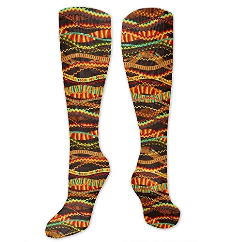 持ってる柔らかさ書道靴下,ストッキング,野生のジョーカー,実際,秋の本質,冬必須,サマーウェア&RBXAA Orange Jagged Stripe - Waves Socks Women's Winter Cotton Long Tube...