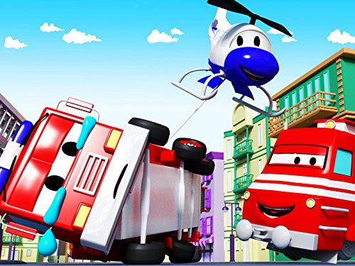 カーシティーのトレインタウンにいる、ボールを集めよう&レッキングボールは列車のトロイ|子供向け列車&トラックアニメ