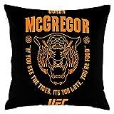 枕カバー Conor McGregor UFC 202 Tiger 100%ポリエステルの豪華な布抱き枕カバー45cm * 45cm