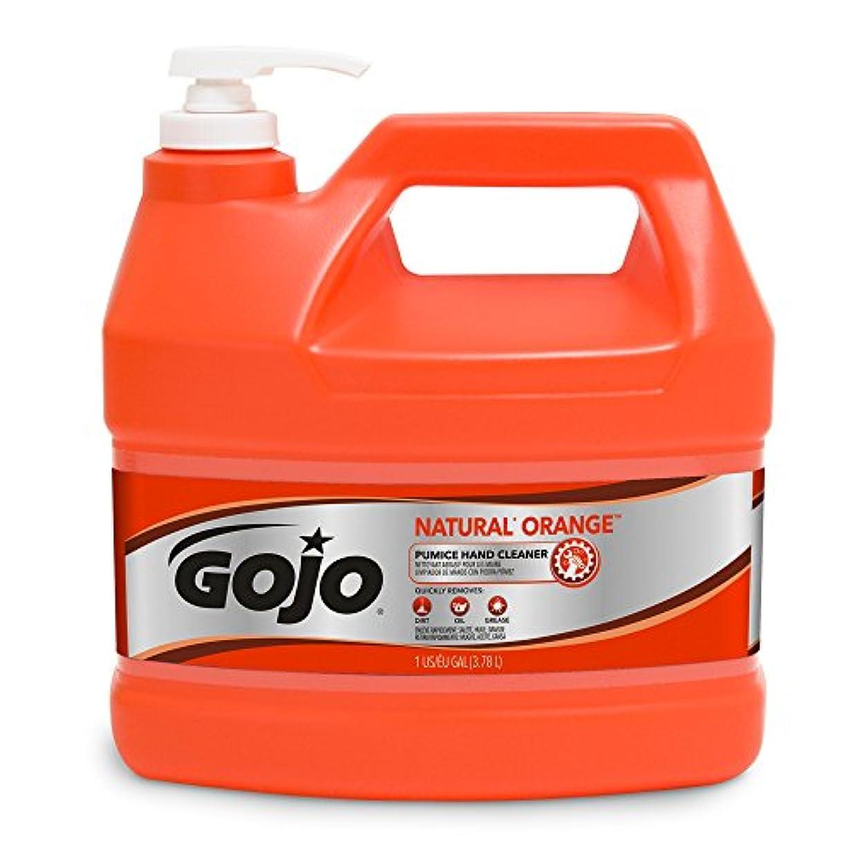 練習した無線リーフレットGOJO Industries GOJ095504EA Hand Cleaner- Orange Pumice- w-Baby Oil- 1 Gal- Citrus