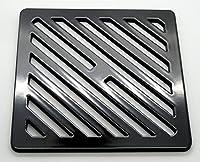 170 mm 17 cm正方形の固体金属鋼ガリーグリッドブラックヘビーデューティドレインカバー火格子のような強い、より強い