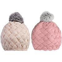 SONONIA 2個 ベビー キッズ ビーニー ハット キャップ 帽子