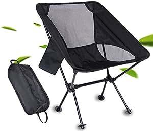 アウトドア チェア 改良版 Sheny 折りたたみ キャンプ 椅子 背もたれ 耐荷重150kg コンパクト 両側にポケットあり (黒)