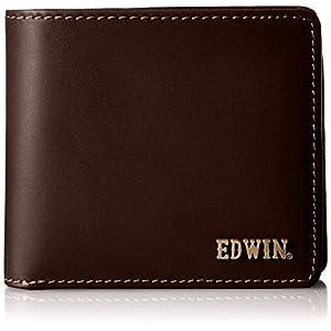 [エドウィン] 二つ折財布 ボンデッドレザー メタルロゴ 22209002 ダークブラウン