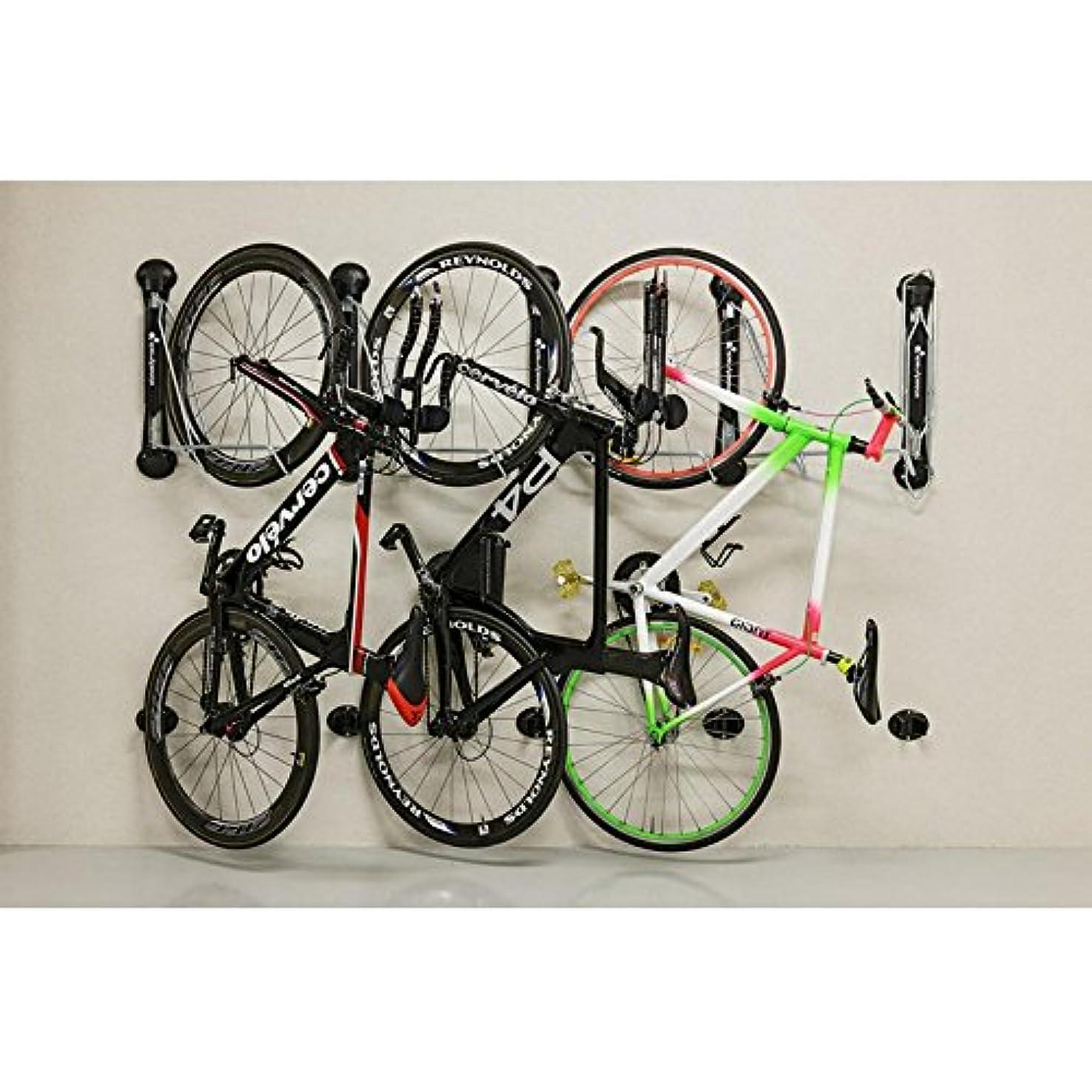 有毒な実業家石灰岩Steady Rack 自転車 垂直収納ラック