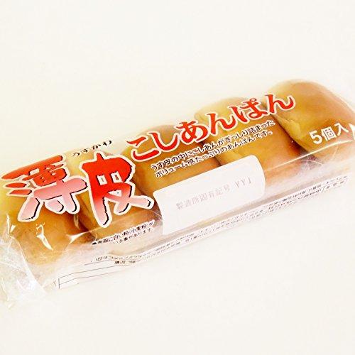 ヤマザキパン 薄皮こしあんパン 5個入り×3個