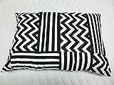 【日本製】カシオペア ピローケース 50x70cm ファスナータイプ 綿100% 枕カバー 大きいサイズ【ふとんの青木】 (ブラック)