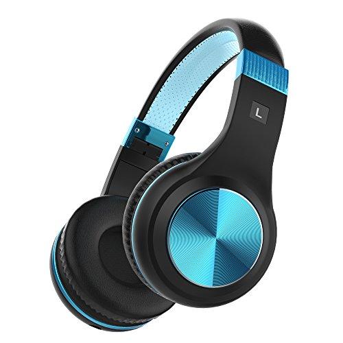 プライム デー VStudioJP ヘッドホン 密閉型 ハンズフリー通話 折り畳み式 高音質 (ブラック&ブルー)