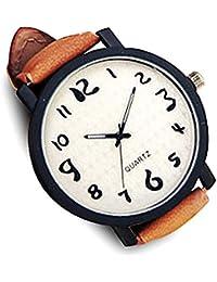 0c13ff76a9 ZooooM ユニーク シンプル デザイン 文字盤 アナログ ウォッチ 腕 時計 ファッション アクセサリー おもしろ カジュアル メンズ レディース  男性 女性 男 女 兼 用…