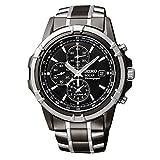 Mens Watch Seiko セイコー SSC143 ステンレススチール Case and Bracelet Black Tone Dial Date 男性用 メンズ 腕時計 (並行輸入)