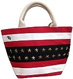 Ron Herman ロンハーマン USAスタッズトートバッグ 3色[ホワイト/レッド/ブルー] 星条旗 コーデュロイ コットン ミニ トート (ホワイト) [並行輸入品]
