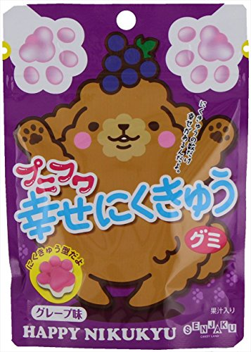 扇雀飴 プニフワ幸せにくきゅうグミグレープ味 57g×6袋