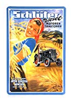 Schlüter Tractor - Retro Tin Sign - 20 x 30 cm