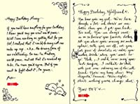 Quiplip Handwritten Yours Truly Birthday Cards 6-Pack (YT09166PCK) [並行輸入品]