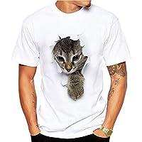 MIOIM Tシャツ メンズ 半袖 3D 猫 プリント ドライ素材 スポーツ 吸水速乾 無地 父の日 アベツク おしゃれ シンプル 彼氏 プレゼント