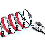 LED TVバックライト、16インチ強力な粘着柔軟なLEDストリップライトUSB電源アンビエント照明のテレビ、1M HDTV Lighting (1M, miniコントローラ)