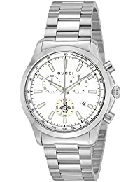 [グッチ]GUCCI 腕時計 Gタイムレス ホワイト文字盤 クロノグラフ YA126472 メンズ 【並行輸入品】