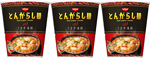 日清のとんがらし麺 うま辛海鮮 64g×12個 とんがらし麺 日清食品 23500