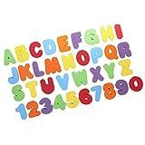 お風呂おもちゃ,SODIAL(R) 36pcsセット ローマ字/数字 スティック 浮かび/水遊び/お風呂おもちゃ 子供キッズ赤ちゃん 知育玩具 (A-Z)(0-9)子供にギフト