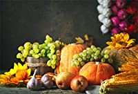 LFEEY 秋の農場風景 背景 素朴な納屋 パンプキン ヘイスタック 写真 背景 秋 収穫 写真 スタジオ小道具 感謝祭 ホリデーパーティー 装飾 ビニールバナー