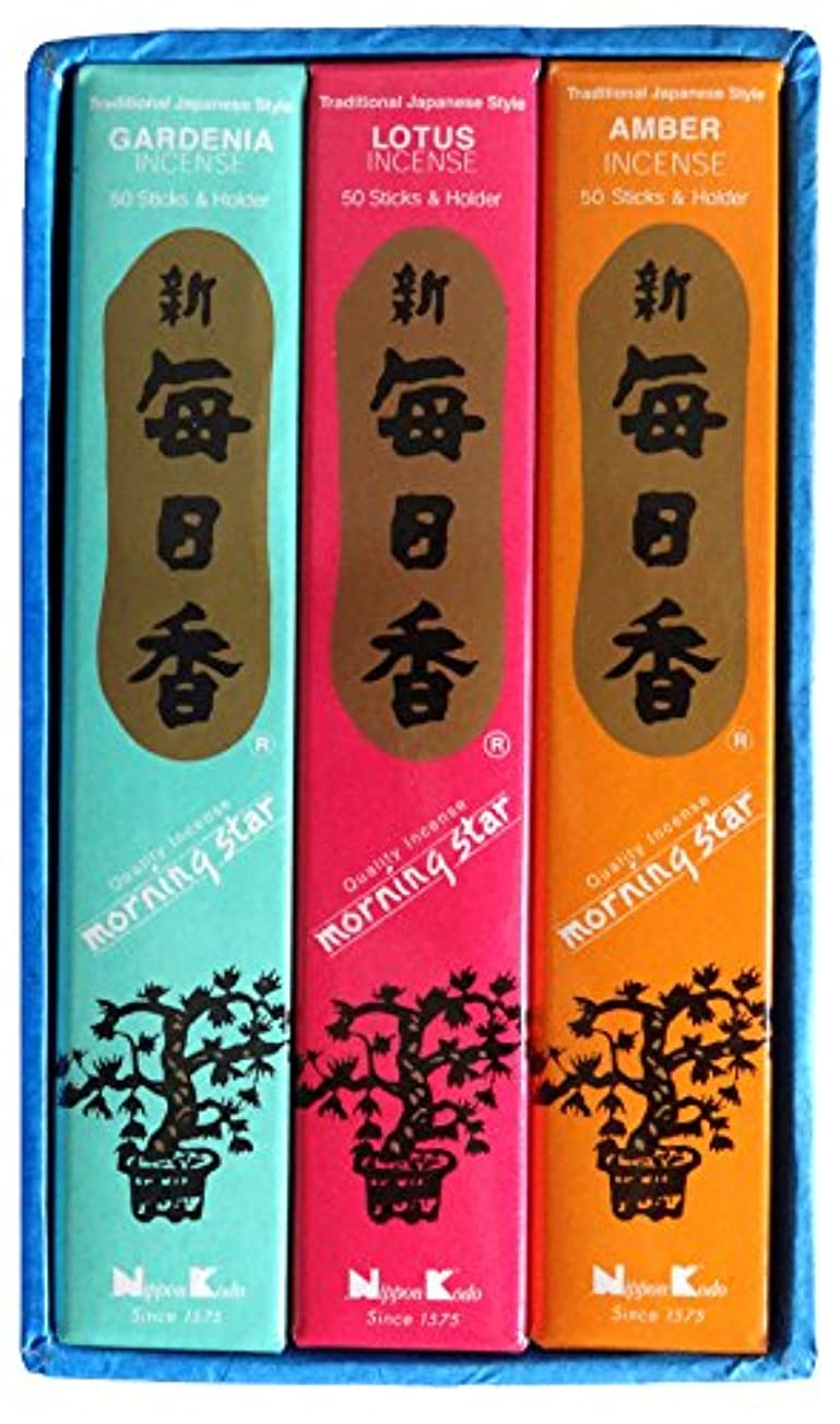 型照らす濃度日本香堂 毎日香モスグリーン 大型バラ詰 (約180g)