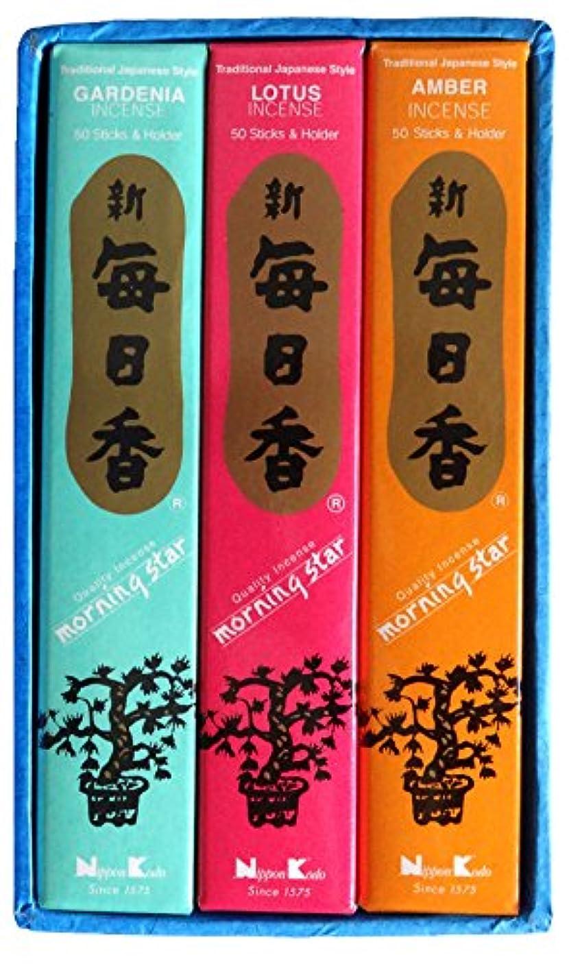 追い越すビーム構成する日本香堂 毎日香モスグリーン 大型バラ詰 (約180g)