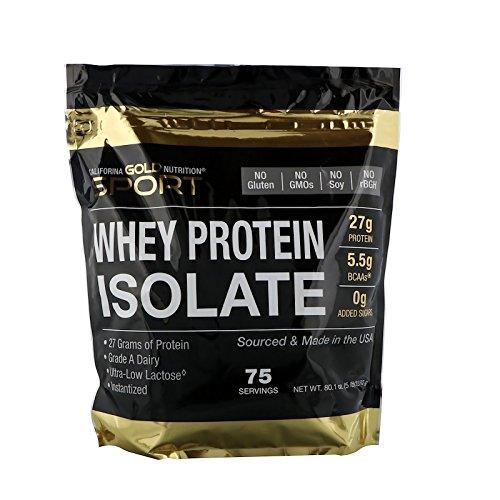 Gold Nutrition(カリフォルニアゴールドニュートリション) CGN ホエイプロテイン アイソレート(WPI90) 超低乳糖 ノンフレーバー (2.27kg) 海外直送品