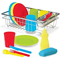 Melissa & Doug's Let's Play House! Wash & Dry Dish Set