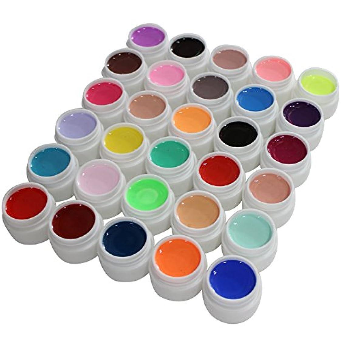 薬エレクトロニック不当UV/LED対応カラージェルソークオフジェル30色カラーセット
