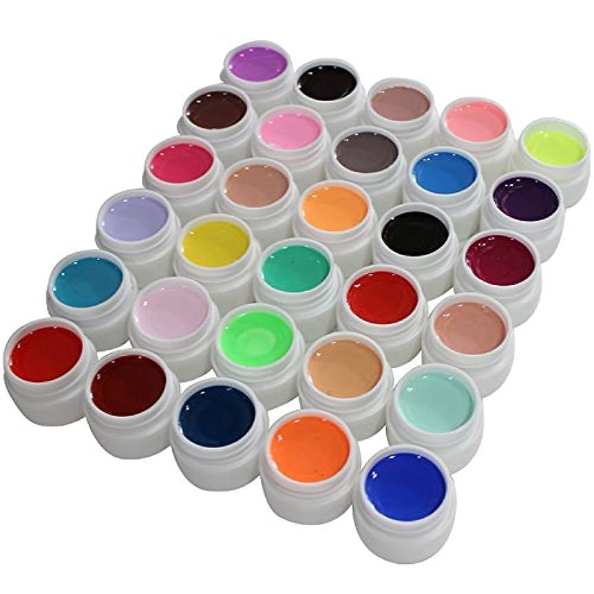賛辞懺悔温かいUV/LED対応カラージェルソークオフジェル30色カラーセット