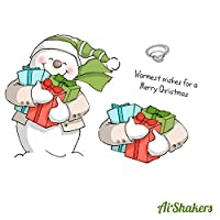 Art Impressions Shakers Card Set-Snowman (並行輸入品)