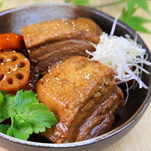 三代目 肉工房 松本秋義 秘伝濃厚醤油だれ まっくろ煮豚 2個セット