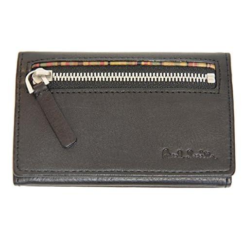 ポールスミス PaulSmith カードケース 名刺入れ 小銭入れ 財布 マルチストライプ ブラック U81310 メンズ 新品正規品