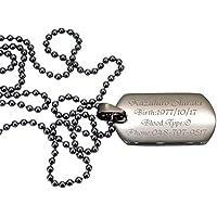 ドッグタグ 認識票 Sサイズ ステンレス オリジナル ペンダント ネックレス 自衛隊 米軍 ミリタリー ギフト