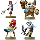 Amiibo Mipha Zora / Urbosa Gerudo / Daruk Goron / Revali Rito 4 SET The Legend of Zelda Breath of the Wild Series Japan Ver.