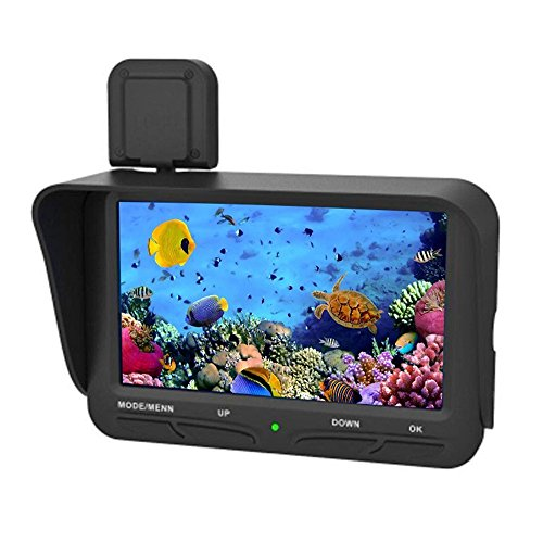 LeaningTech X2B フィッシュファインダー 魚群探知機 モニター 暗視 20m / 65.6ftケーブル付き 4.3インチ表示画面 DVR機能 録画 漁場を見つける 日本語に対応 耐寒性 防水 釣り
