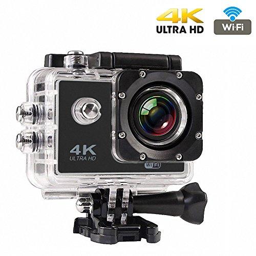 CrazyFire フルHD水中カメラ 170度広角レンズ アクションカメラ ワイヤレス 4K スポーツビデオ 空撮 2.0インチ液晶画面 30M防水 アクションカメラセット(ACアダプター付きません)