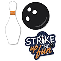 Strike Up the Fun - Bowling - Shaped Birthday Party or Baby Shower Cut-Outs - 24 Count [並行輸入品]