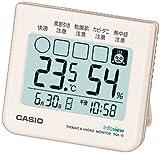 カシオ 温度・湿度計付き 生活環境お知らせ コンパクトサイズクロック PQL-10-7JH