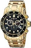 腕時計 インヴィクタ Invicta Men's 0072 Pro Diver Collection Chronograph 18k Gold-Plated Watch【並行輸入品】