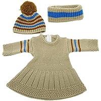 Dovewill  18インチアメリカンガールドール対応 セーター ドレス スカーフ 帽子 人形 服