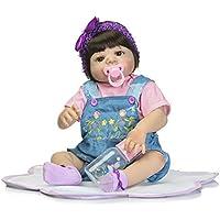 ガールReborn新生児赤ちゃん人形フルボディシリコン22インチビニールLifelike Kids Toys with Magneticおしゃぶり