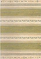 【ノーブランド品】ベルギー製 約1.5畳 約133×195cm【品名:ジーバ】ウィルトン織 絨毯(じゅうたん) カーペット ラグ カラー3色(グリーン・ブルー・ブラウン) ziba133195 (グリーン)