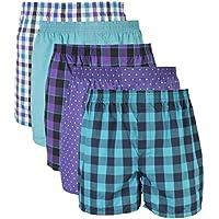 Gildan Men's Woven Boxer Underwear Multipack, Mixed