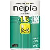 【ケース販売】 ネピア ロングトイレットロール 12ロール ダブル 2枚重ね 45m巻 無香料 × 6個入
