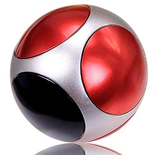 球形 三面回転可能 4様式 指先ジャイロ 指スピナー ハンドスピナー 指先ジャイロ(Hand Spinner Fidget Spinner) ADD、ADHD、自閉症、集中力を向上し、ストレスを解消する場合などに最適 ハンドスピナー 独楽おもちゃ 1-3分 成人用 /子供用 様式(A-B-C-D) (三面回転可能の球形のハンドスピナー , A)